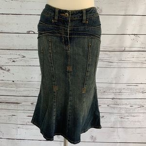 🗽FIT AND FLARE DENIM SKIRT🗽